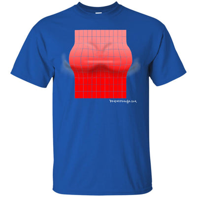 3D Red Rectangle Optical Illusion Dirty T-shirt