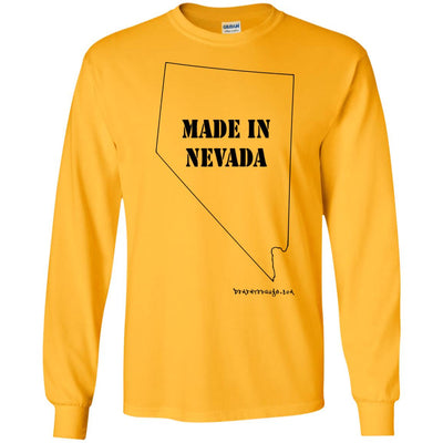 Made In Nevada Long Sleeve Light T-Shirts