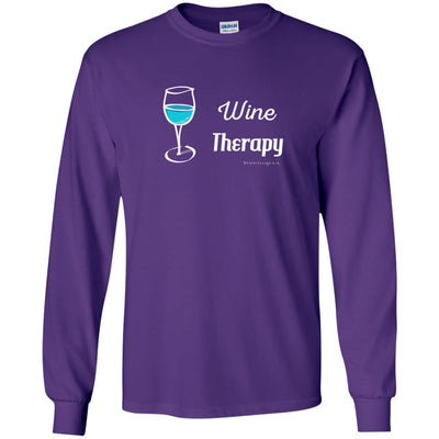 Wine Therapy Long Sleeve Dark T-shirts