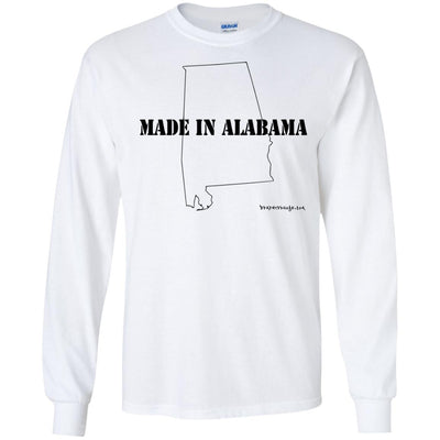 Made In Alabama Long Sleeve Light T-Shirts