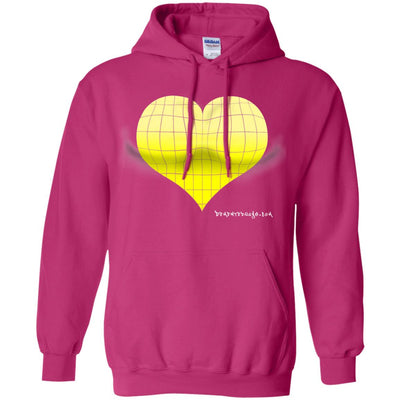 3D Yellow Heart Optical Illusion Hoodies