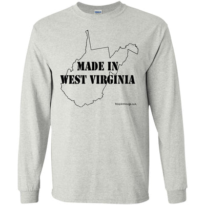 Made In West Virginia Long Sleeve Light T-Shirts