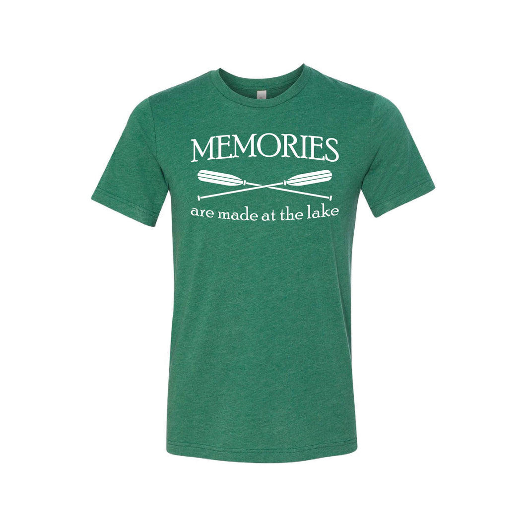 memories are made at the lake t-shirt - green - outdoor living collection - soft and spun apparel