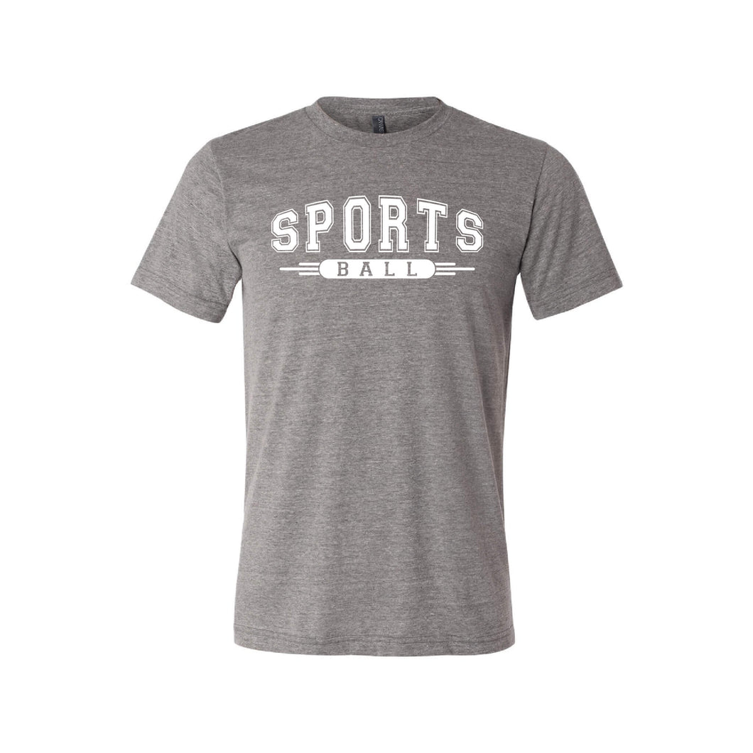 sport ball t-shirt - sportsball collection - grey - soft and spun apparel