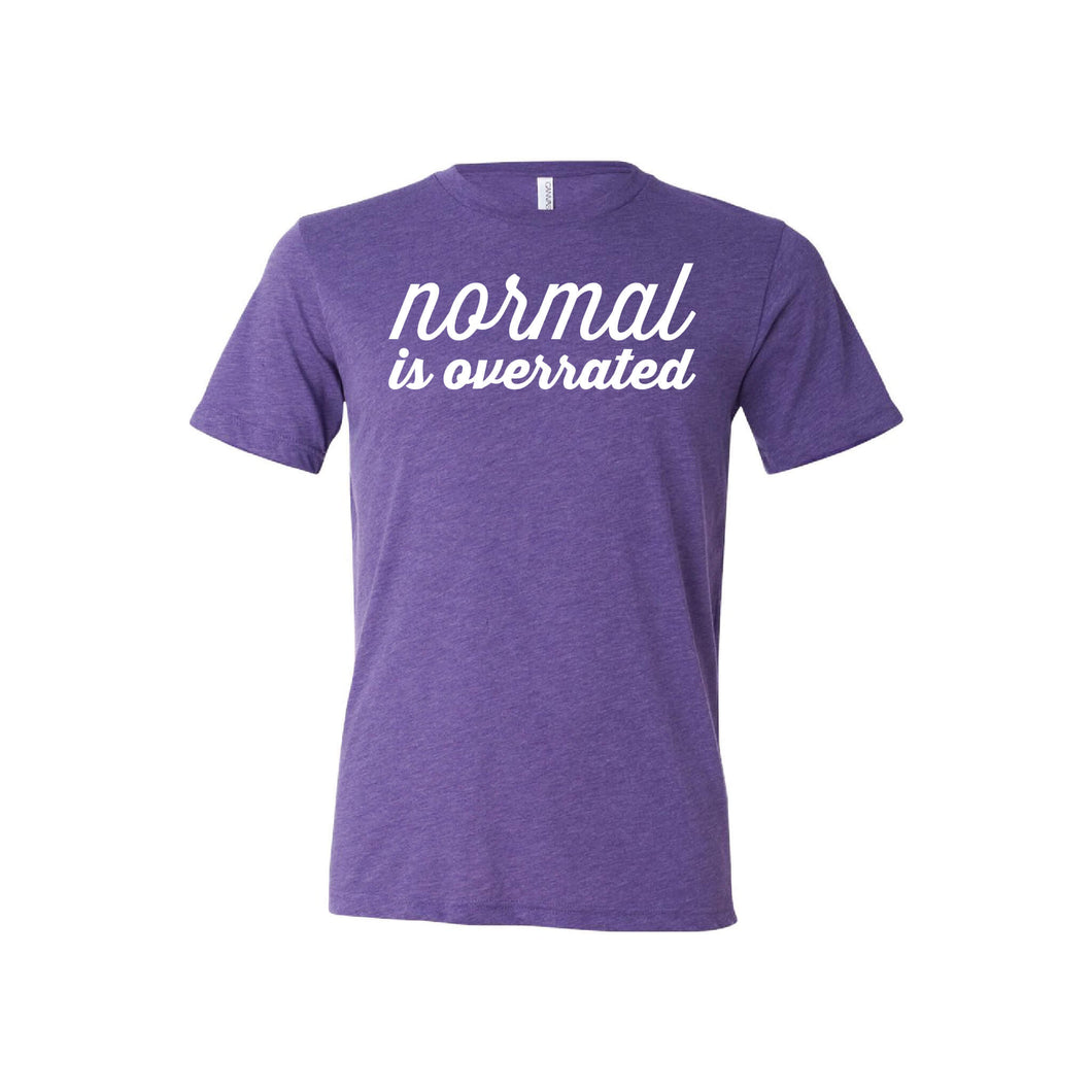 Normal is Overrated T-Shirt - Soft & Spun Apparel - Purple
