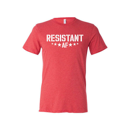 resistant af t-shirt - red - af collection - soft and spun apparel