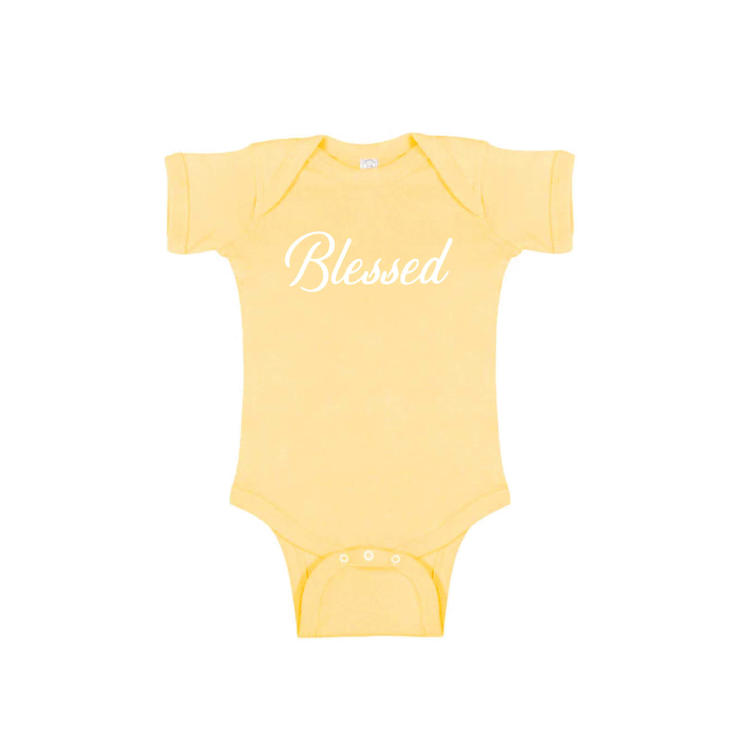 blessed onesie - butter - thanksgiving onesie - soft and spun apparel