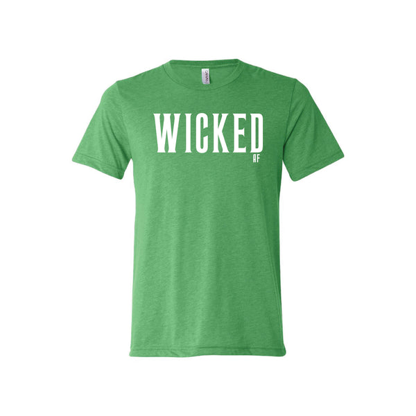 wicked af t-shirt - green - af t-shirt - halloween t-shirt