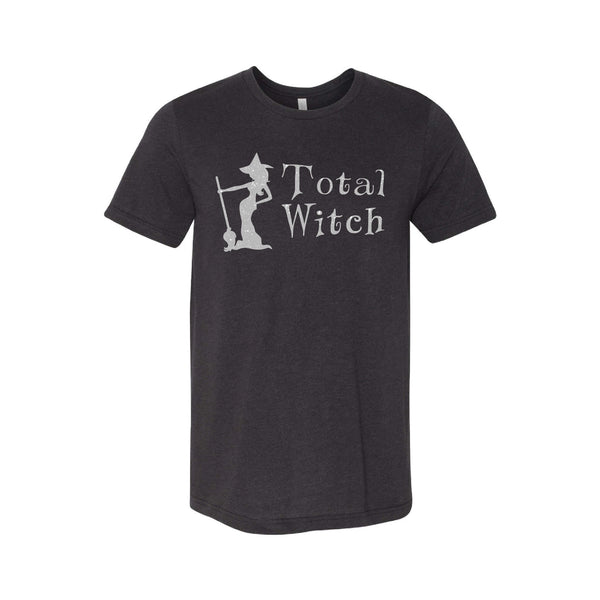 total witch - black heather - halloween t-shirt - soft and spun apparel