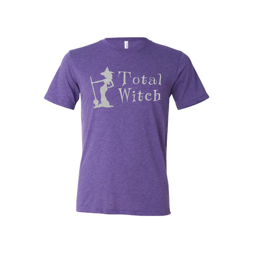 total witch - purple - halloween t-shirt - soft and spun apparel