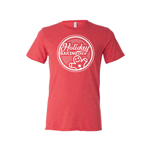 holiday baking crew t-shirt - red - christmas t-shirt - soft and spun apparel