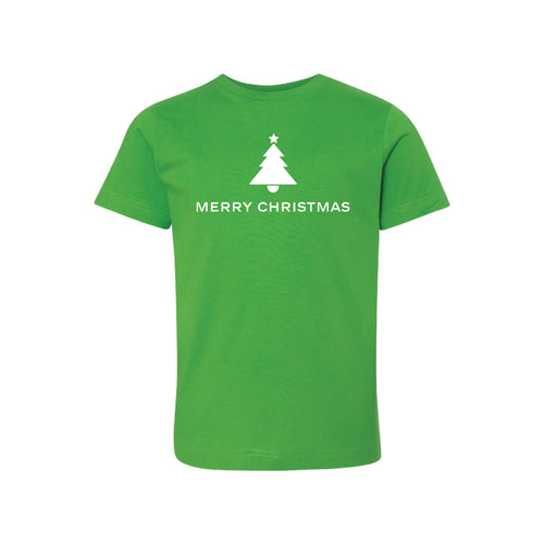 merry christmas kids t-shirt - apple - christmas t-shirts - soft and spun apparel