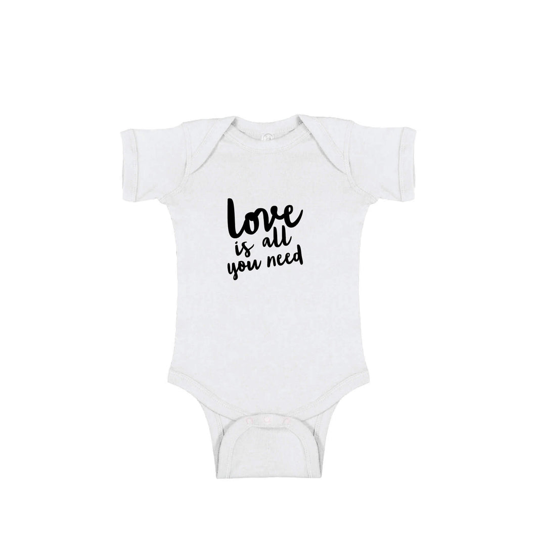 love is all you need onesie - white - soft and spun apparel
