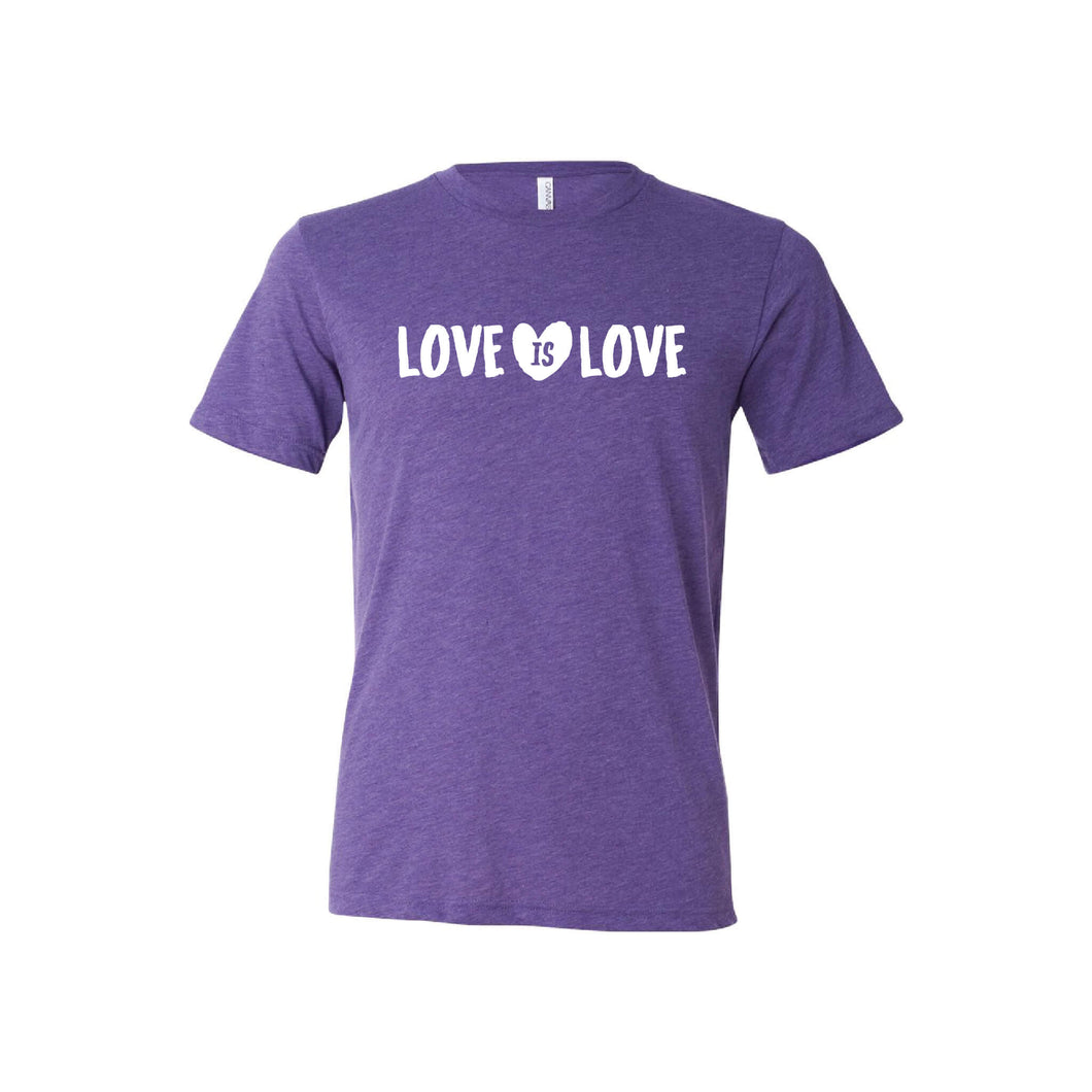 love is love t-shirt - purple - soft and spun apparel