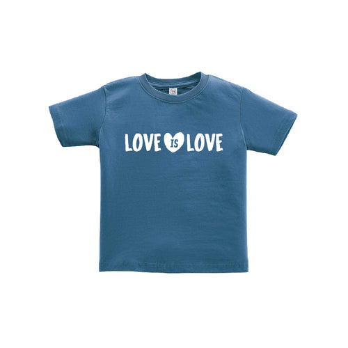 love is love toddler tee - indigo - soft and spun apparel