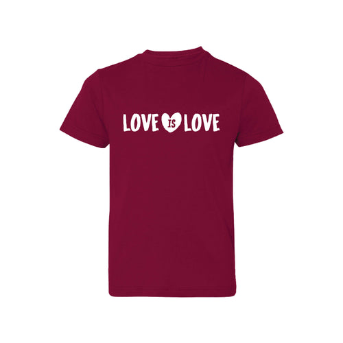 love is love kids t-shirt - garnet - soft and spun apparel
