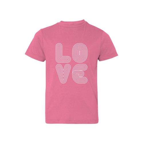 love lines kids t-shirt - raspberry - soft and spun apparel