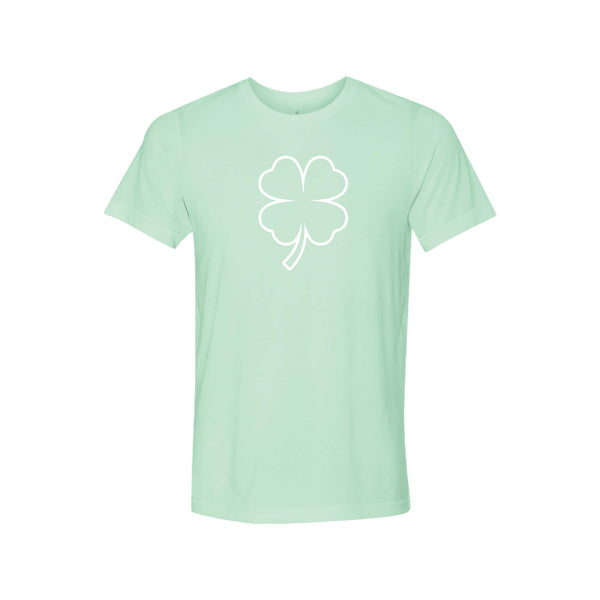 st patricks day shamrock t-shirt - mint - soft and spun apparel