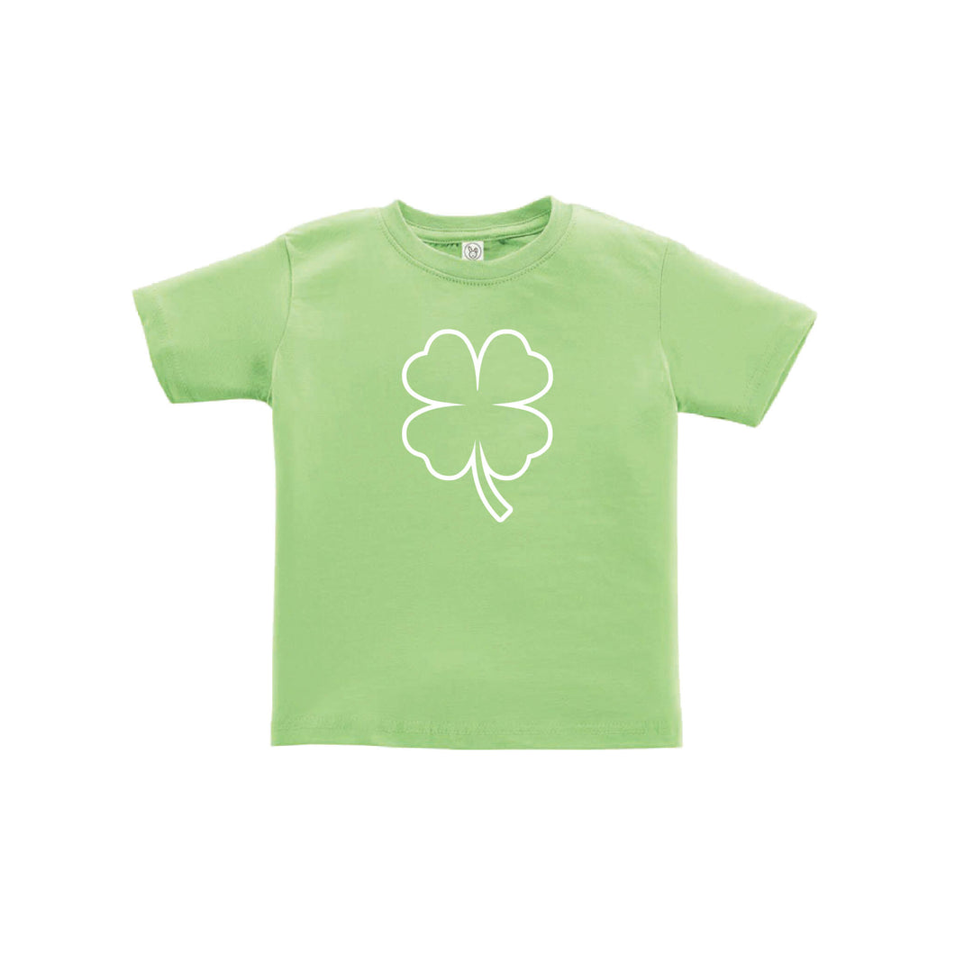 st patrick's day shamrock toddler tee - key lime - soft and spun apparel