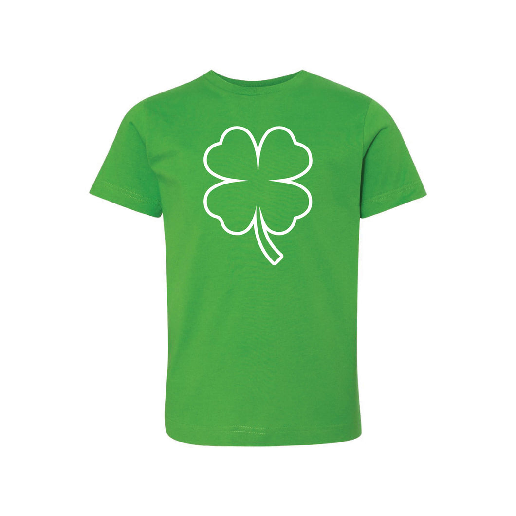 st patricks day shamrock kids t-shirt - apple - soft and spun apparel