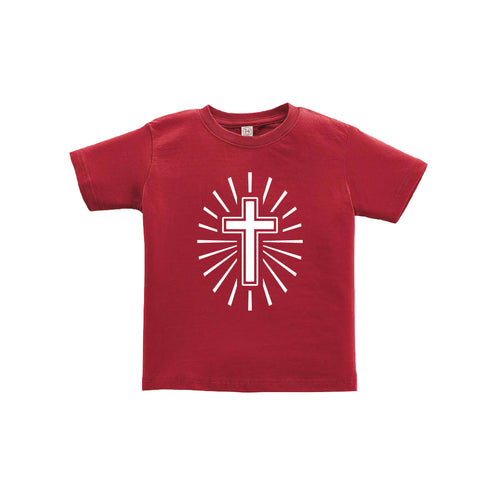 cross toddler tee - garnet - soft and spun apparel
