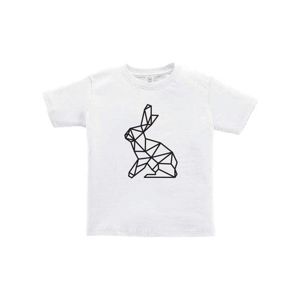 geometric easter bunny toddler tee - white - soft and spun apparel