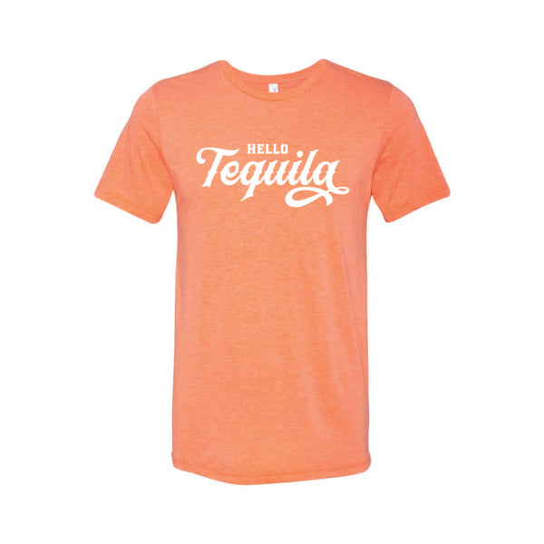 Hello Tequila T-Shirt-XS-Orange-soft-and-spun-apparel