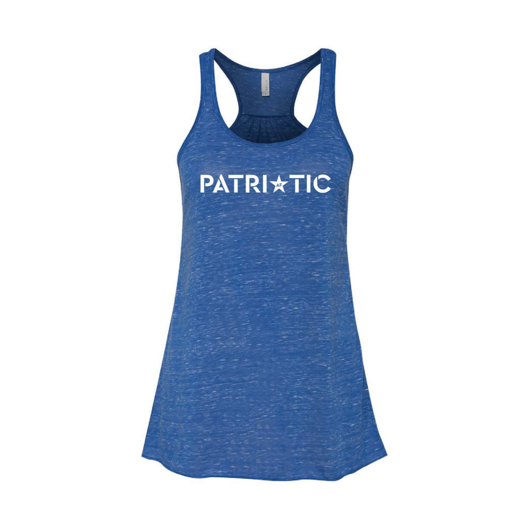 Patriotic AF Women's Tank-XS-True Royal Marble-soft-and-spun-apparel