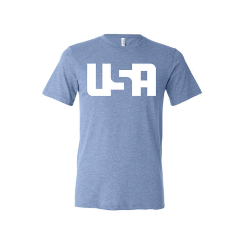 USA T-Shirt-XS-Blue-soft-and-spun-apparel