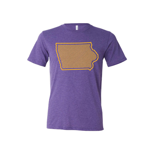 University of Northern Iowa Outline Themed T-Shirt-XS-Purple-soft-and-spun-apparel
