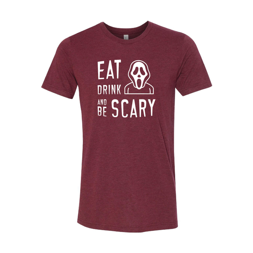 Eat Drink and Be Scary T-Shirt-XS-Cardinal-soft-and-spun-apparel