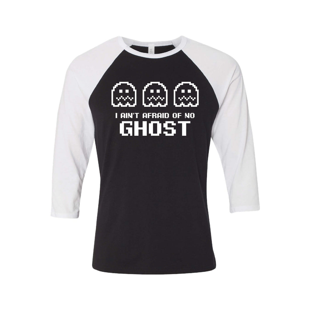 I Ain't Afraid of No Ghost Raglan-XS-Black White-soft-and-spun-apparel