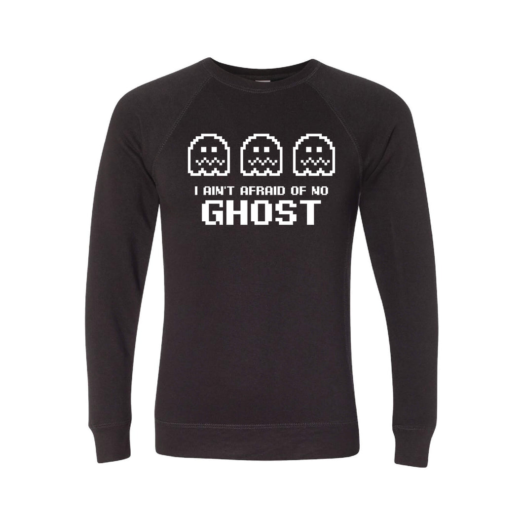 I Ain't Afraid of No Ghost Crewneck Sweatshirt-S-Black-soft-and-spun-apparel
