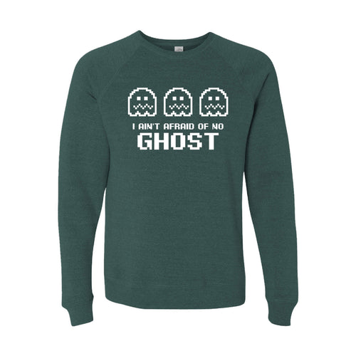 I Ain't Afraid of No Ghost Crewneck Sweatshirt-S-Moss-soft-and-spun-apparel