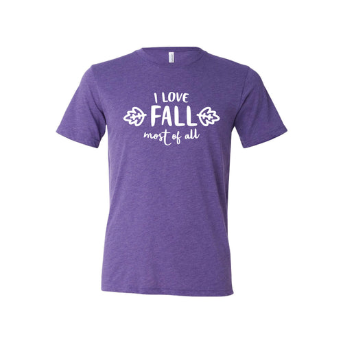 I Love Fall Most of All T-Shirt-XS-Purple-soft-and-spun-apparel