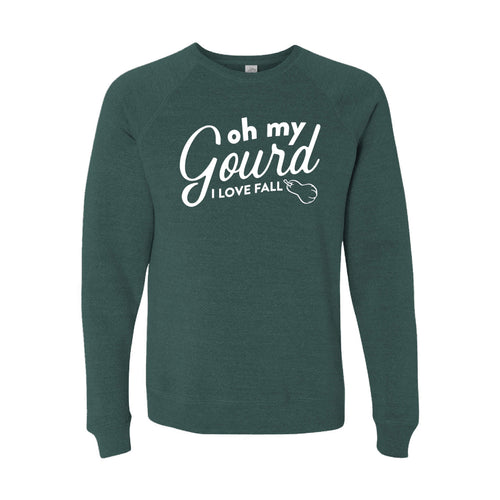Oh My Gourd, I Love Fall Crewneck Sweatshirt-S-Moss-soft-and-spun-apparel