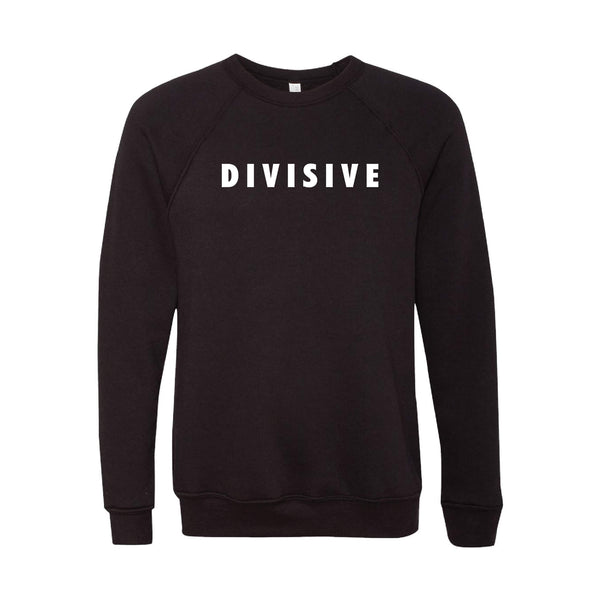 Divisive Crewneck Sweatshirt-XS-Black-soft-and-spun-apparel
