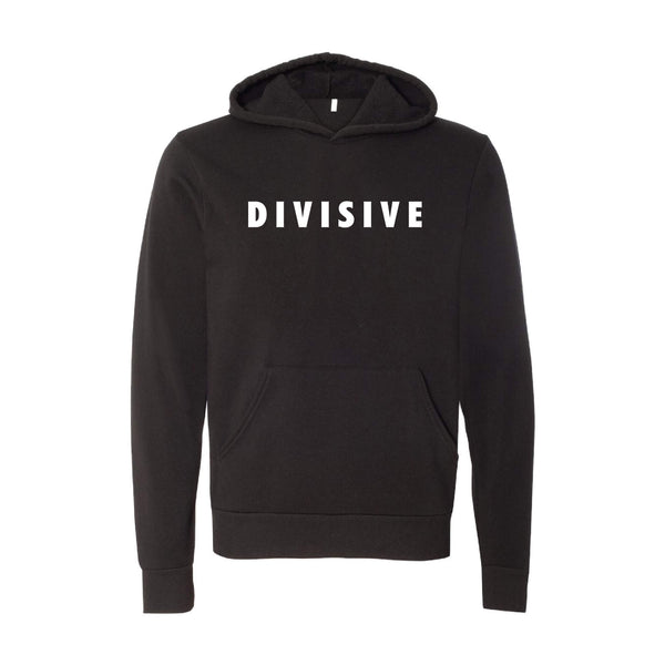 Divisive Pullover Hoodie-S-Black-soft-and-spun-apparel