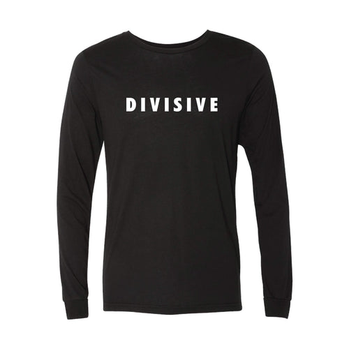 Divisive Long Sleeve T-Shirt-XS-Solid Black-soft-and-spun-apparel
