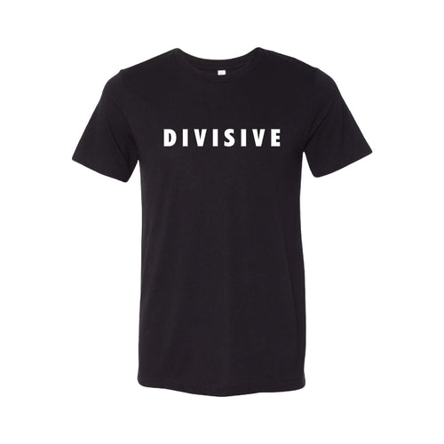 Divisive T-Shirt-XS-Solid Black-soft-and-spun-apparel
