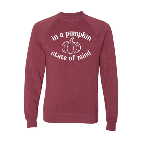 In A Pumpkin State of Mind Crewneck Sweatshirt-S-Crimson-soft-and-spun-apparel
