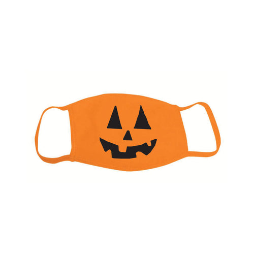 Halloween Pumpkin Mask-Standard Black-soft-and-spun-apparel