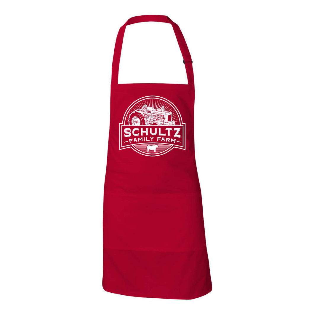 Schultz Family Farm Apron-American Red-soft-and-spun-apparel