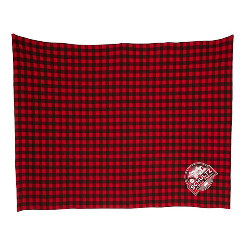 Schultz Family Farm Blanket-Red Buffalo Plaid-soft-and-spun-apparel