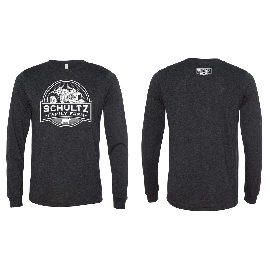 Schultz Family Farm Long Sleeve T-Shirt-S-Charcoal Black-soft-and-spun-apparel