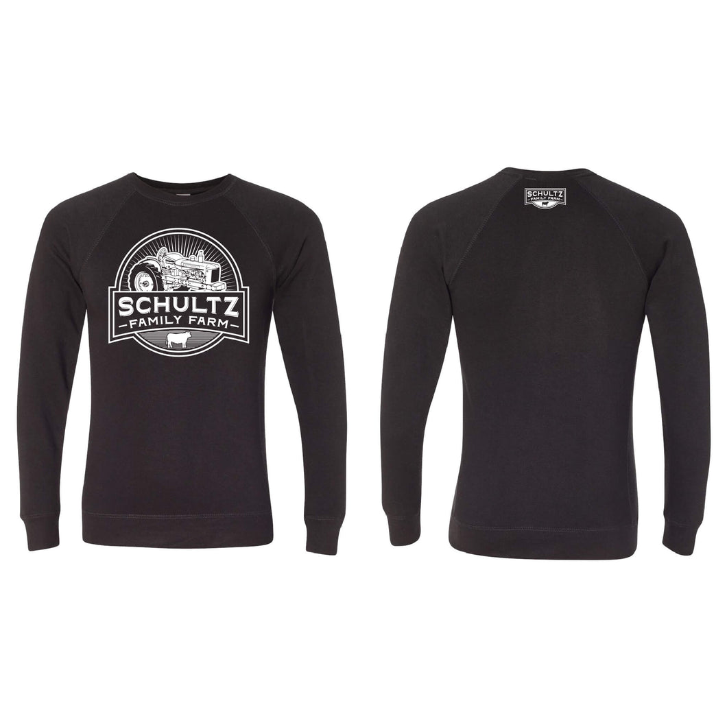 Schultz Family Farm Crewneck Sweatshirt-S-Black-soft-and-spun-apparel