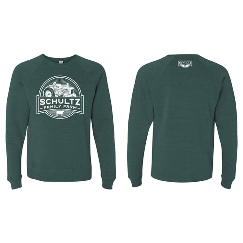 Schultz Family Farm Crewneck Sweatshirt-S-Moss-soft-and-spun-apparel
