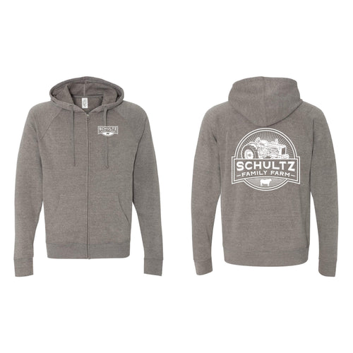 Schultz Family Farm Full-Zip Hoodie-S-Nickel-soft-and-spun-apparel
