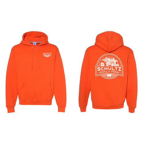 Schultz Family Farm Hoodie-S-Burnt Orange-soft-and-spun-apparel