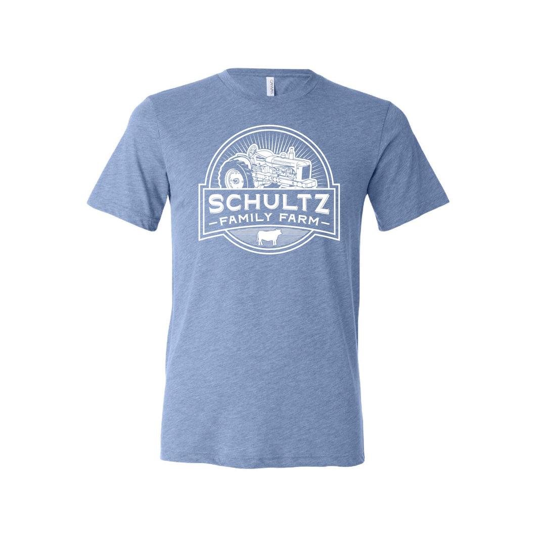 Schultz Family Farm Short Sleeve T-Shirt-S-Blue-soft-and-spun-apparel